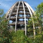 Stezka v korunách stromů německo - rozhledna vajíčko