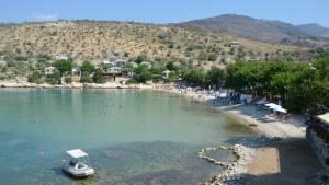 Aliki beach Thassos Řecko