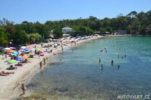 Aliki beach Thassos Řecko 10
