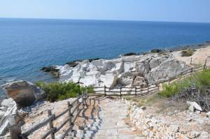 Aliki beach Thassos Řecko 2