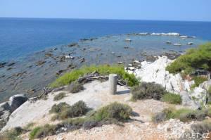 Aliki beach Thassos Řecko 3