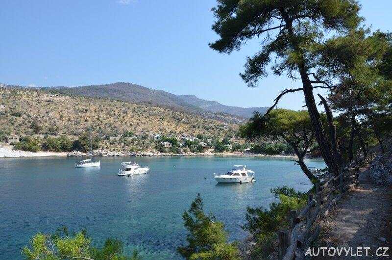 Aliki beach Thassos Řecko 4