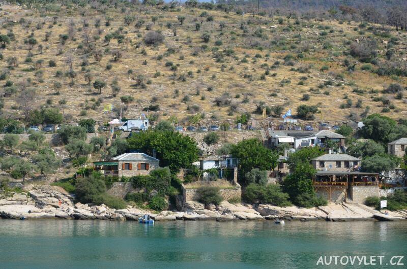 Aliki beach Thassos Řecko 5