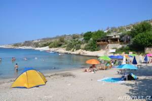 Aliki beach Thassos Řecko 6