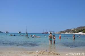 Aliki beach Thassos Řecko 7