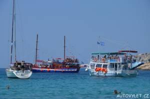 Aliki beach Thassos Řecko 8