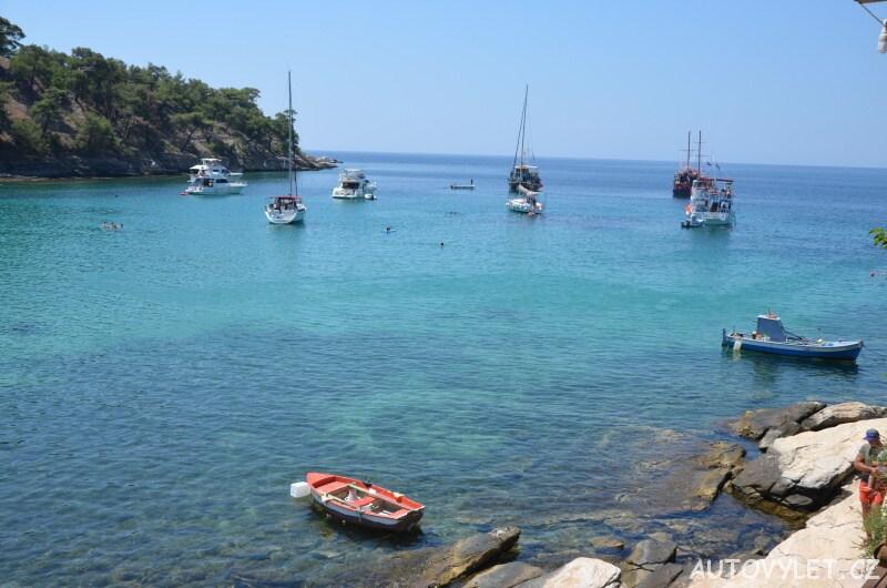 Aliki beach Thassos Řecko 9