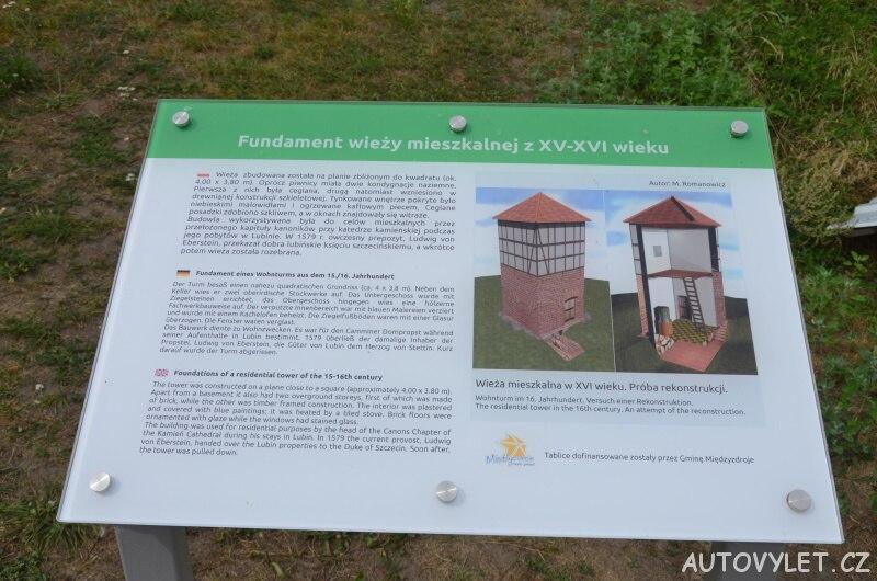 Archeologická naleziště - vyhlídka Lubin Polsko