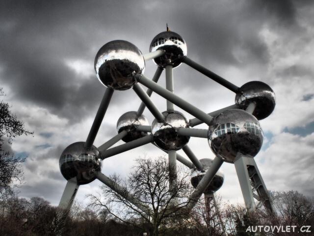 Atominium Brusel Belgie