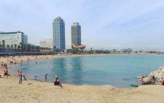 Barcelona pláž
