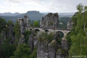 bastei skalní most německo