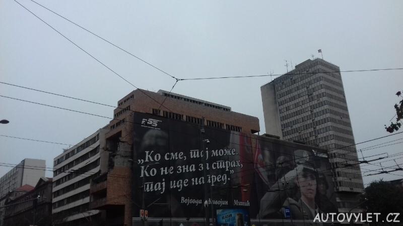 Bělehrad - vybombardované a neopravené centrum města