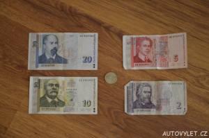 bulharská měna leva bankovky 2 5 10 20