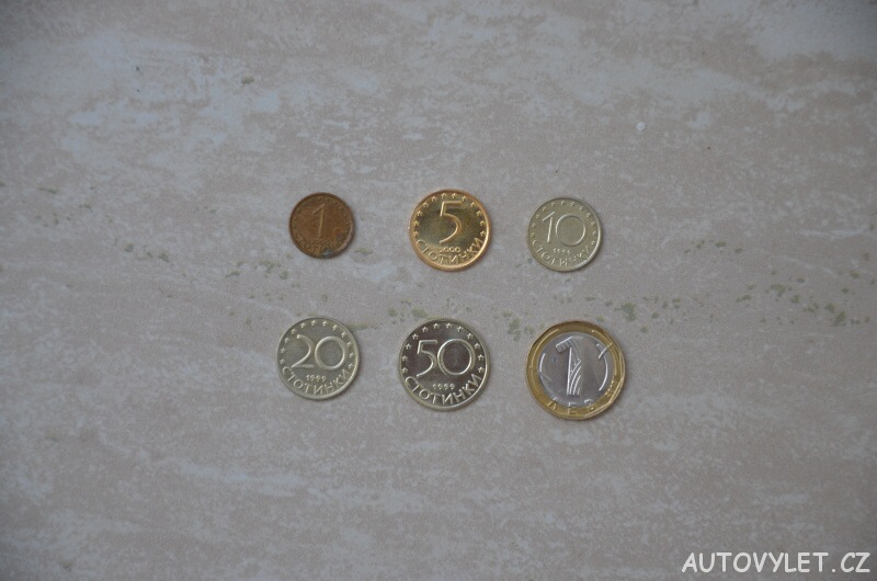 bulharská měna leva mince 1 5 10 20 50