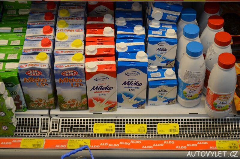 cena mléka supermarket aldo bulharsko