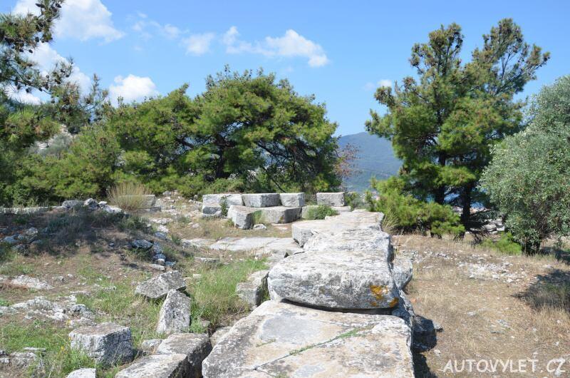 Chrám Athény Thassos Řecko