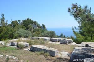 Chrám Athény Thassos Řecko 2