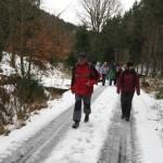 Zimní přechod Dlouhého vrchu u Litoměřic