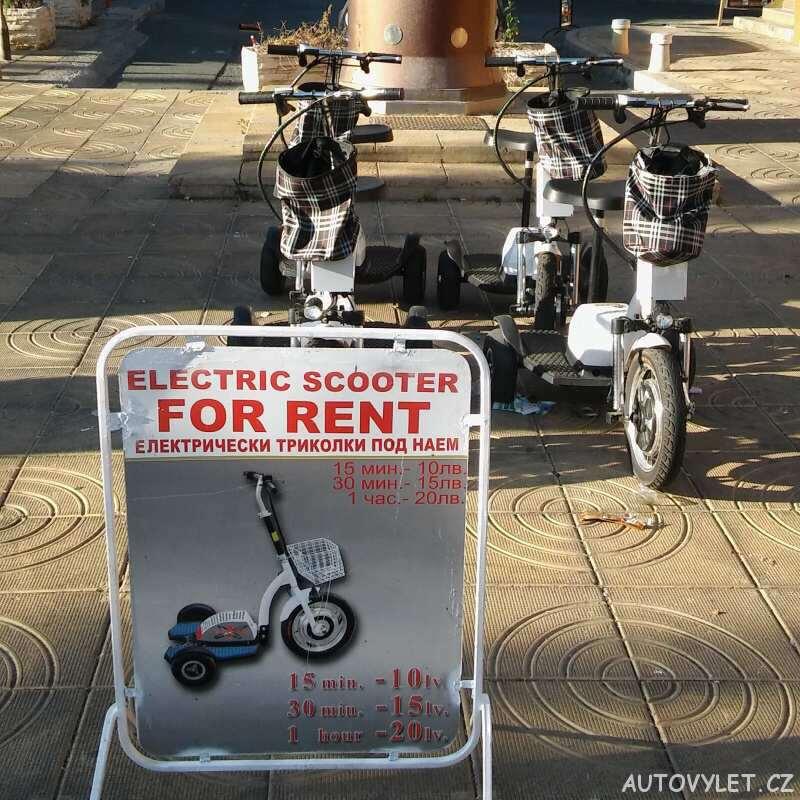 elektrická tříkolka - scooter - sunny beach bulgaria