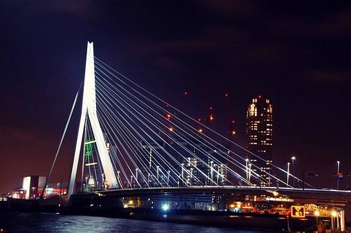 Erasmův most - Rotterdam Nizozemí