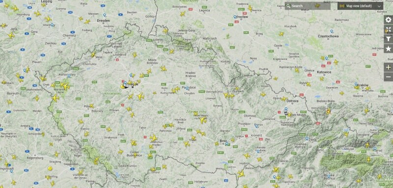 Flightradar - sledování letadel nad Evropou a ČR online