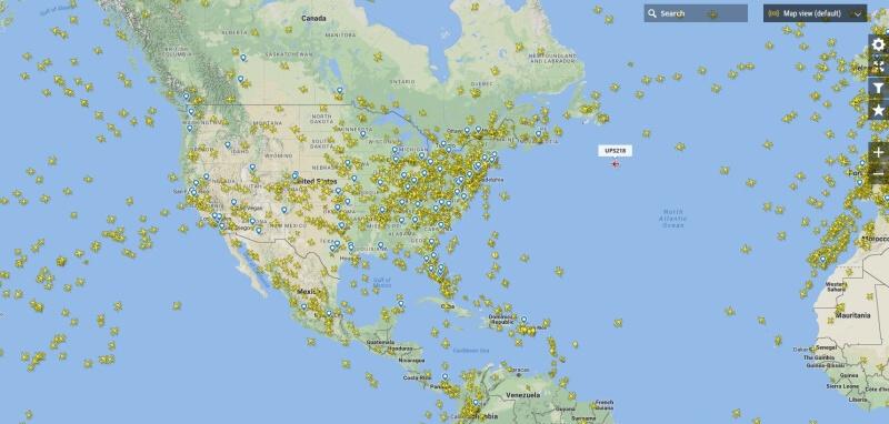 Flightradar - sledování letadel nad USA online