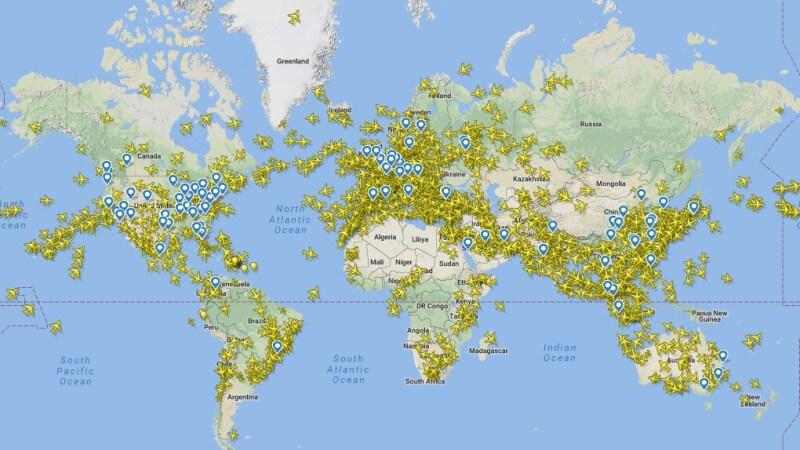 Flightradar - sledování letadel online