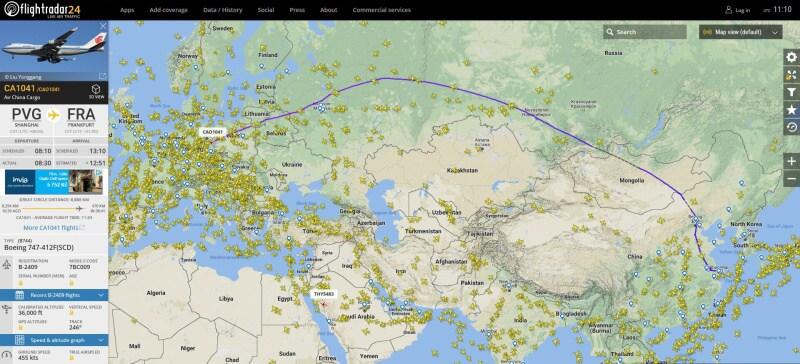 Flightradar - sledování letadel online 2