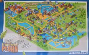 Freizeitpark Plohn - zábavní park Německo - mapa