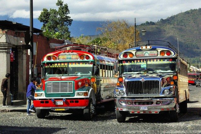 Autobus v Guatemale