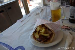Gyros pita - Gefstiko taverna Thasos Řecko