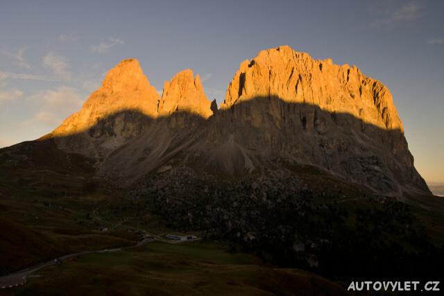 Hora Sassolngu Passo Sell Dolomity Itálie