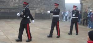 Hradní stráž Edinburgh Skotsko