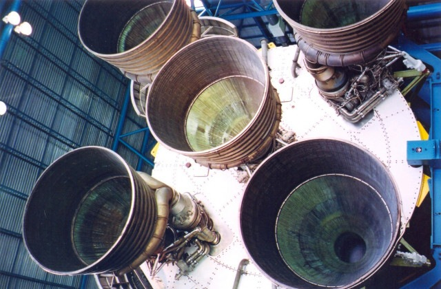 Kennedyho vesmírné středisko NASA - raketa Apollo - Florida Usa