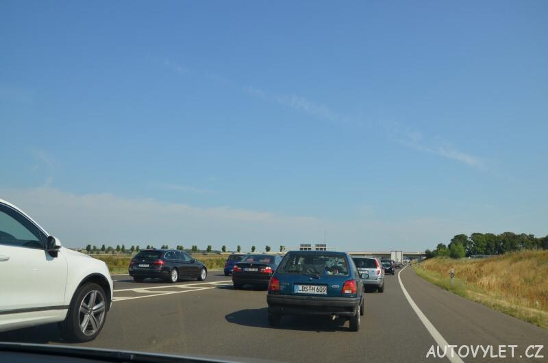 Kolona na dálnici v Německu