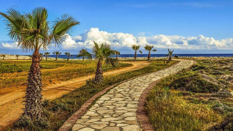 kypr cesta k pobřeží