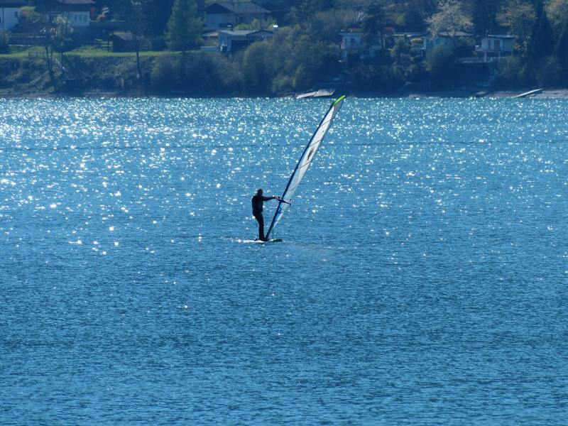 Lago di Ledro - windsurfing v Itálii