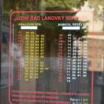 Lanovka Imperial Karlovy Vary - jízdní řád horní stanice