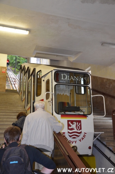 Lanovka rozhledna Diana - Karlovy Vary