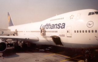 letadlo lufthansa - frankfurth - new york