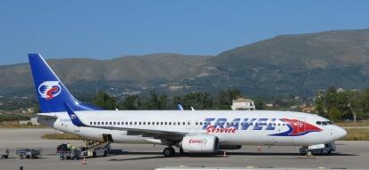 Letadlo Travel Service letiště Řecko Zakynthos