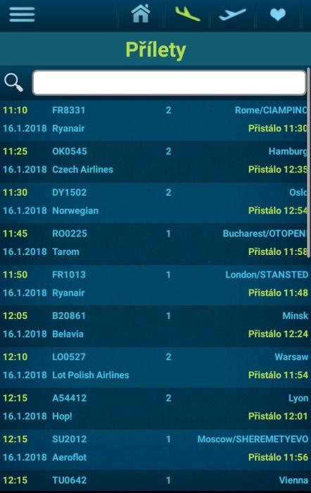 Letiště Václava Havla Praha - přílety a odlety letadel online 04