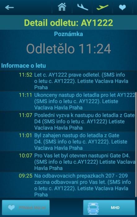 Letiště Václava Havla Praha - přílety a odlety letadel online 10