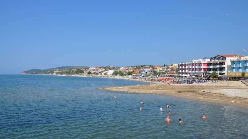 Limenaria město na Thassosu v Řecku