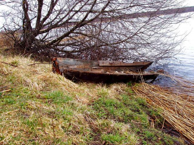Viselská kosa Polsko loďka