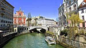 Lublaň Slovinsko - kanál