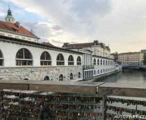 Lublaň Slovinsko - most lásky