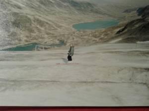 lyžování na ledovci v Norsku