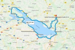 Mapa Trojzemí - Bodamské jezero