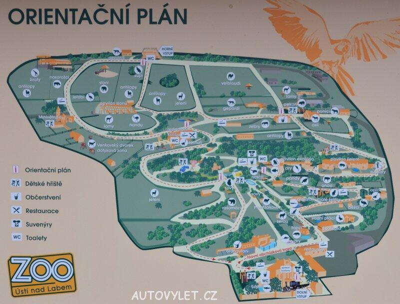 Mapa zoo Ústí nad Labem